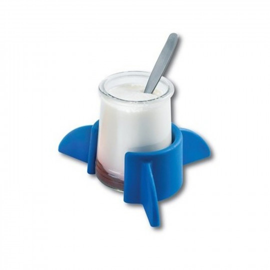 Support yaourt antidérapant bleu