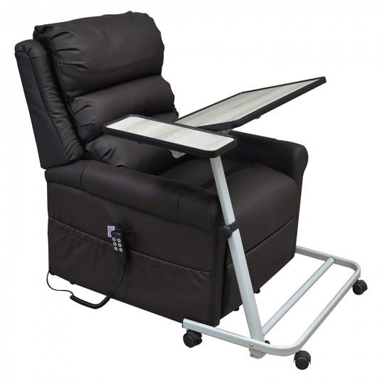 Table spéciale fauteuil plateau gris plus support