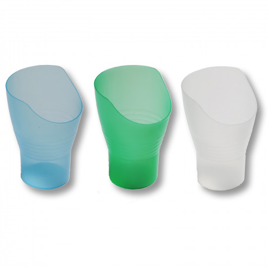 verre à découpe nasale vert