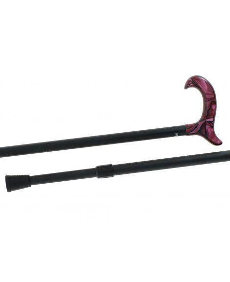 Canne télescopique crochet violine/noir