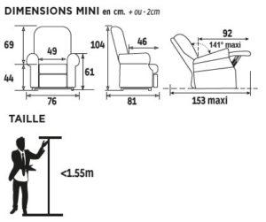Dimensions fauteuil releveur cassis